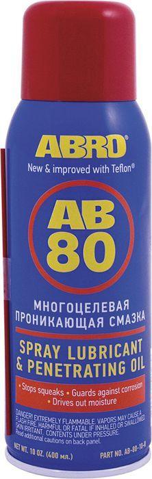 Смазка-спрей универсальная Abro, с тефлоном, 400 мл краска спрей abro masters цвет серый грунт sp 008 am