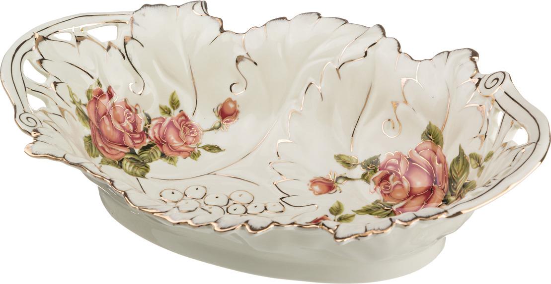 Фруктовница Lefard Корейская роза, 36 х 24 х 9 см. CK-6010 блюдо lefard корейская роза 34 х 30 х 5 см ck 4333