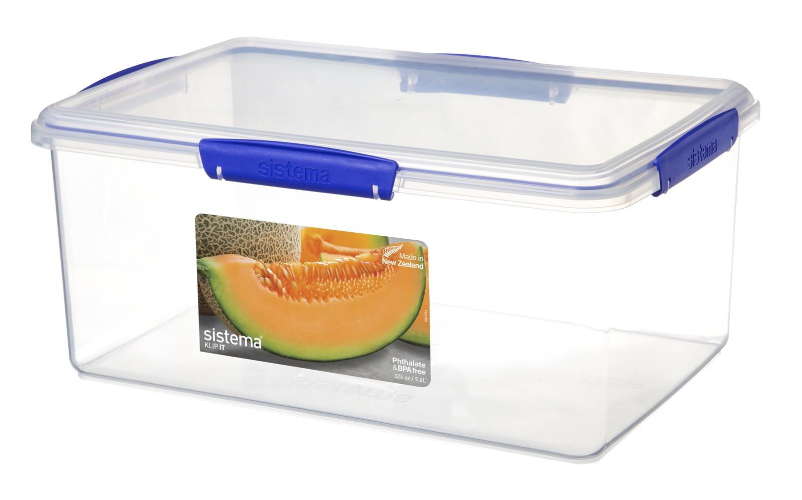 Контейнер пищевой Sistema Контейнер 9,6л, прозрачный