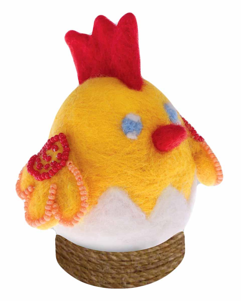 Набор для валяния игрушки Школа талантов Цыпленок, 9 х 16 см набор для валяния школа талантов новогодний шар снеговик 9 х 9 см
