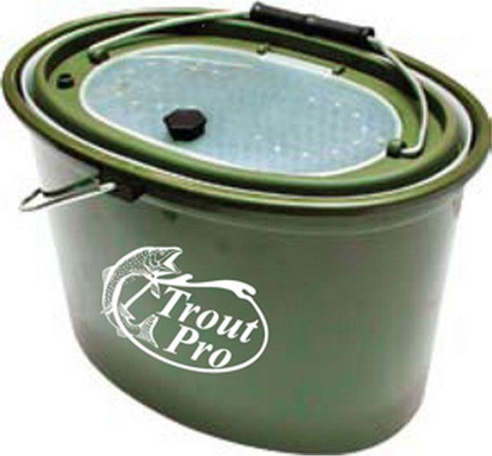 Кан рыболовный Trout Pro, цвет: зеленый, 5 л