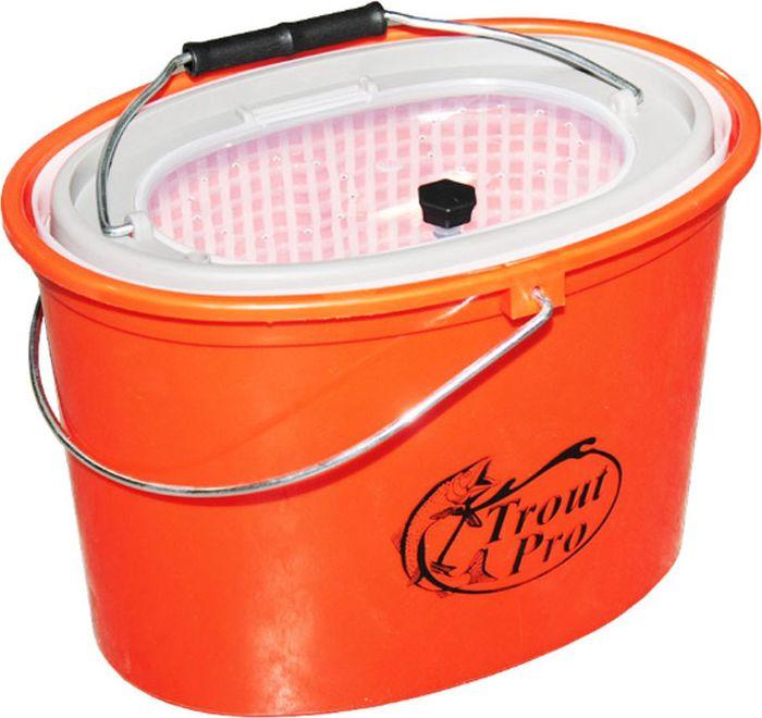 Кан рыболовный Trout Pro, цвет: оранжевый, 5 л