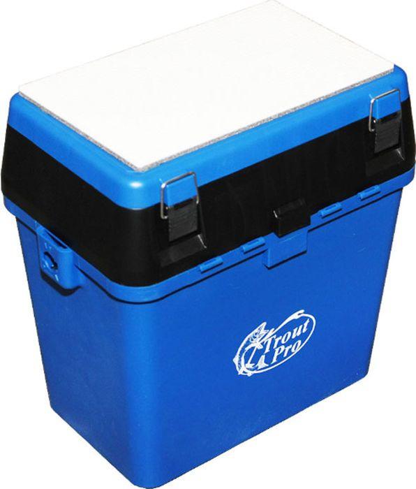 Ящик рыболовный Trout Pro, зимний, цвет: синий, 39 х 24 х 38 см ящик рыболовный flambeau t4p multiloader pro zerust 6310tb