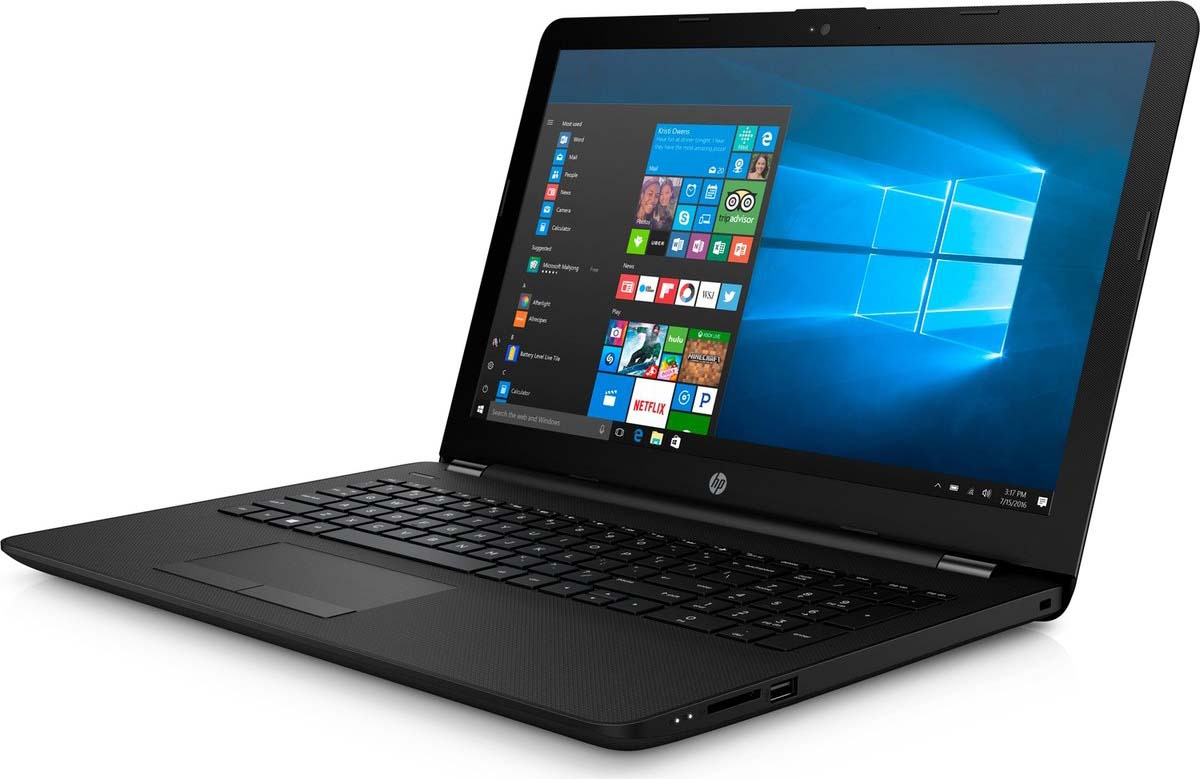 15.6 Ноутбук HP 15-BS156UR 3XY57EA, черный ноутбук hp 15 ay095ur core i3 5005u 4gb 500gb intel hd graphics 5500 15 6 hd 1366x768 windows 10 64 black wifi bt cam 2850mah