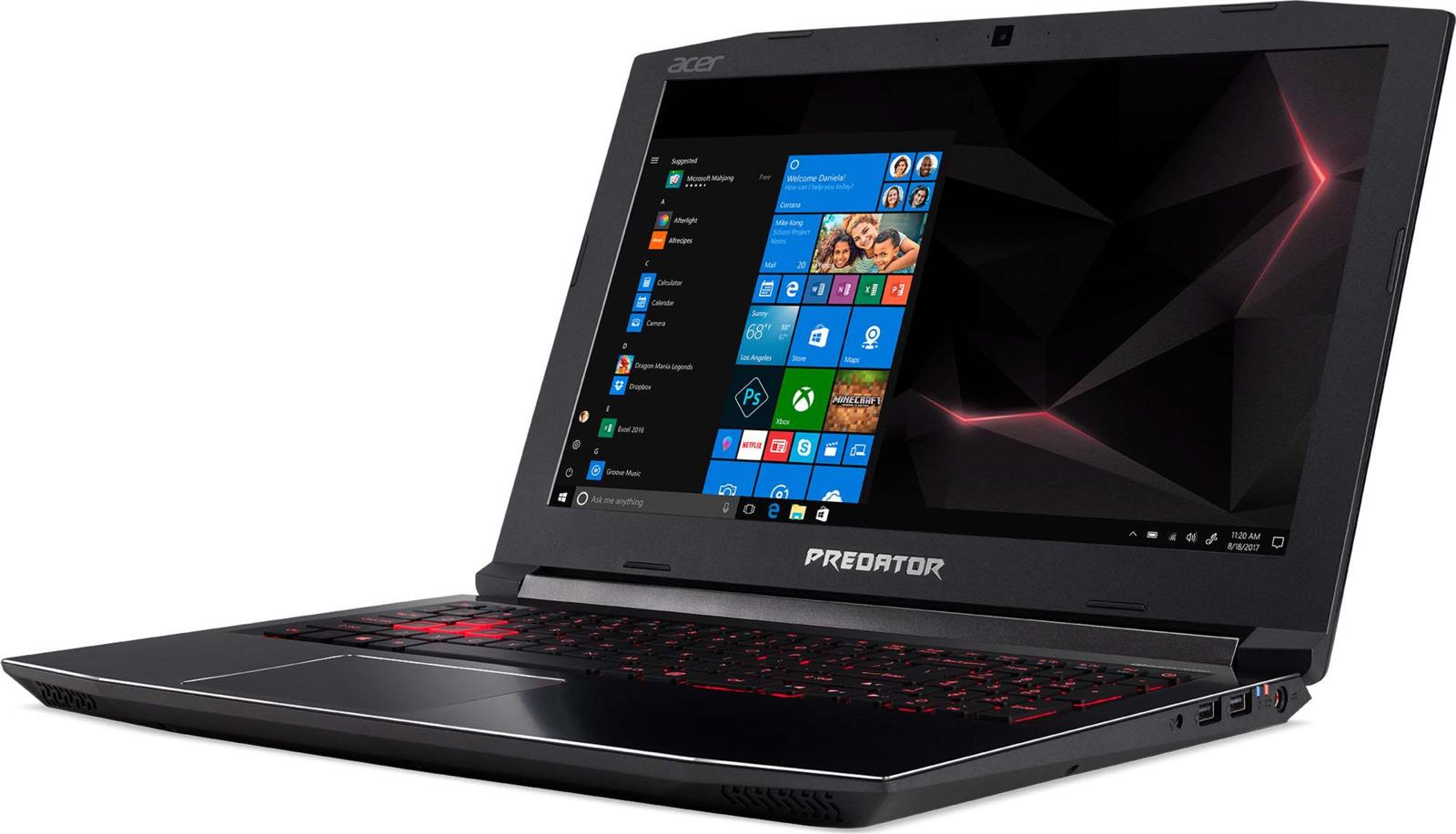 """15.6"""" Игровой ноутбук Acer Predator Helios 300 PH315-51 NH.Q3FER.008, черный"""