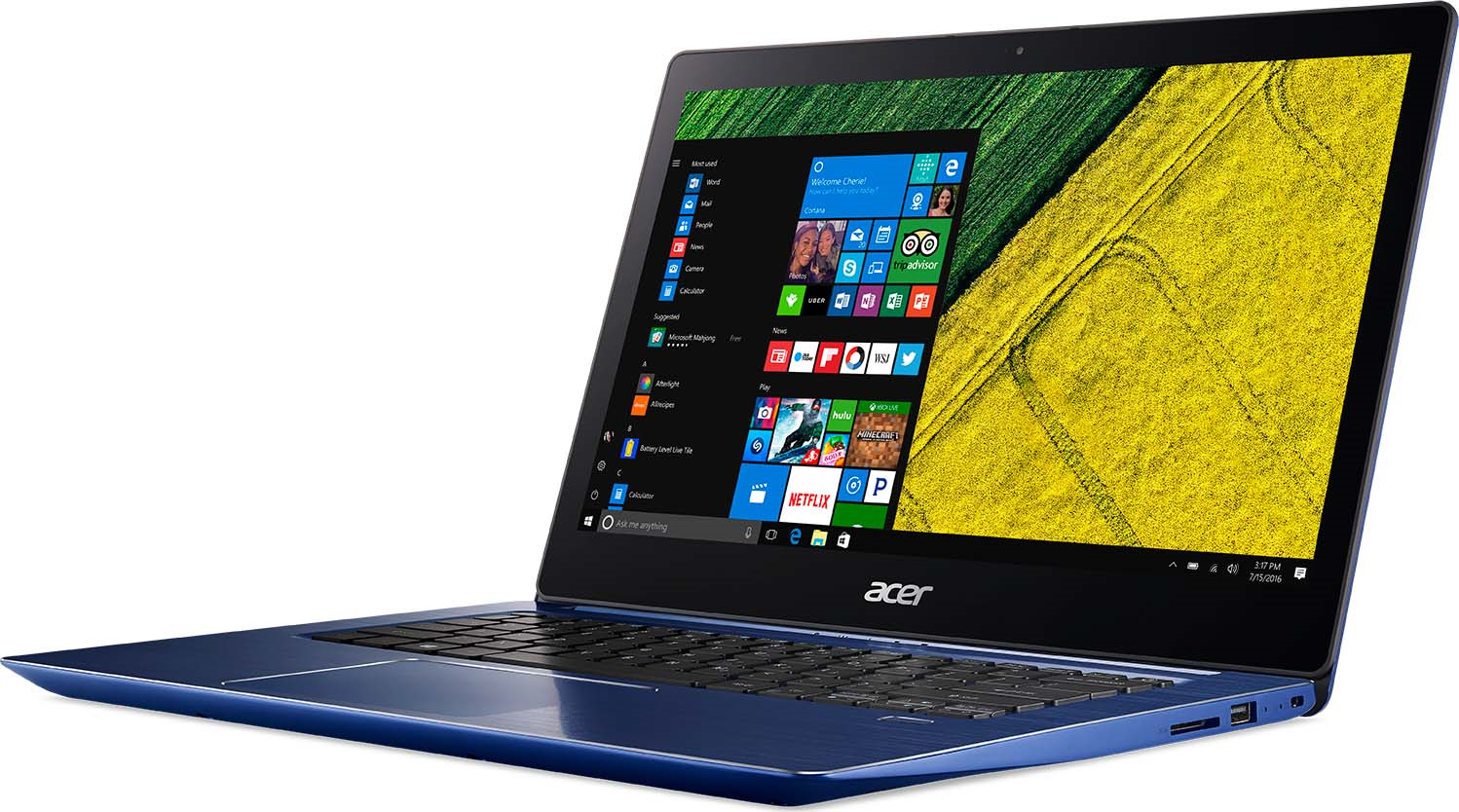 14 Ноутбук Acer Swift 3 SF314-54 NX.GYGER.009, синий ноутбук acer swift 3 sf314 54 nx gyger 009 14 синий