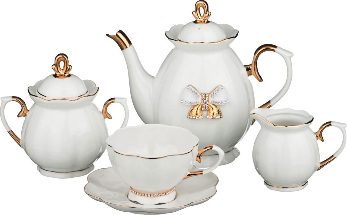 Набор чайный Lefard, со стразами, 15 предметов. 552300 недорого