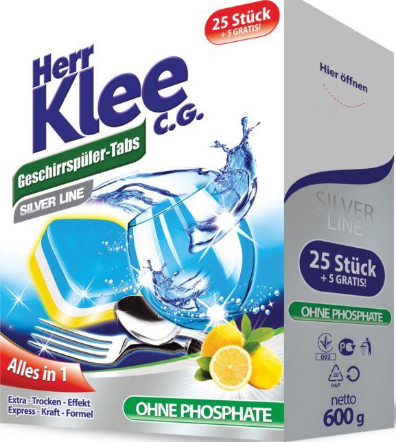 Таблетки для посудомоечных машин Herr Klee C.G. Silver Line, 30 шт. стоимость