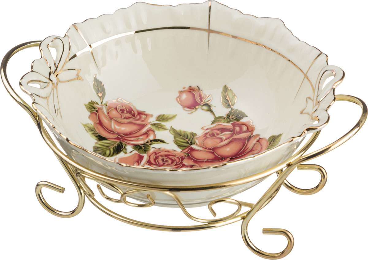 Салатник Lefard Корейская роза, 17 х 17 х 9 см. KR-3214 розетка lefard корейская роза 11см фарфор