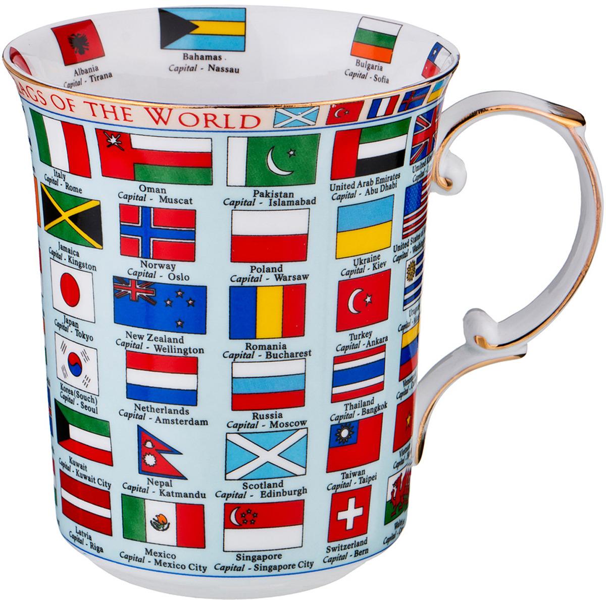 Кружка Lefard Флаги стран мира, 500 мл. M3532 кружка lefard флаги стран мира 500 мл m3532