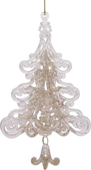 Новогоднее подвесное елочное украшение Magic Time Елочки, 3,8 х 9 х 15,5 см новогоднее подвесное елочное украшение magic time бантик цвет золотой 9 х 9 х 1 см