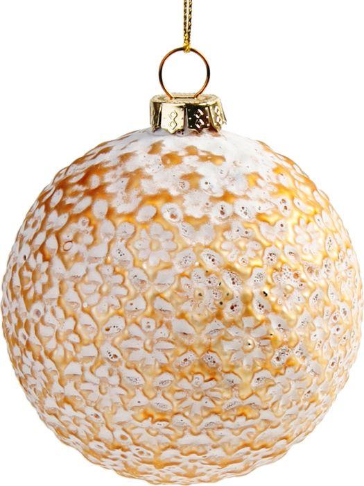 Новогоднее подвесное украшение Magic Time Шар с золотыми вкраплениями, 8 см новогоднее подвесное украшение magic time шар красные цветы диаметр 8 см