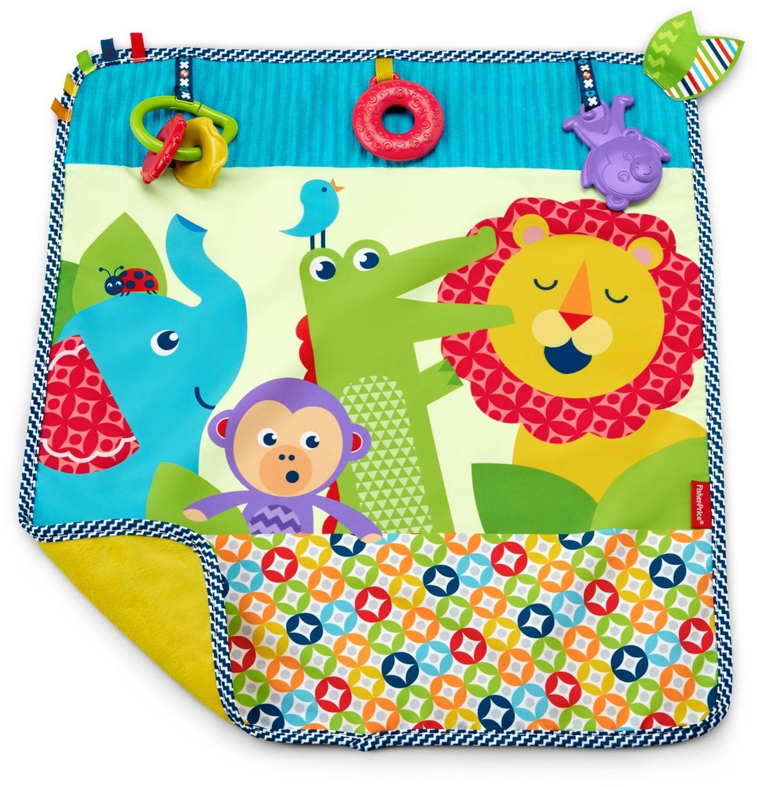 Fisher-Price Развивающая игрушка Мягкое одеяло Пойдем на прогулку 40 х 60 см