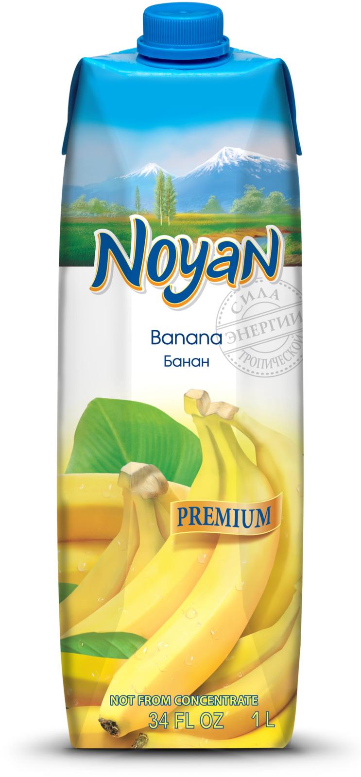 Нектар банановый Noyan Premium, 1 л цена