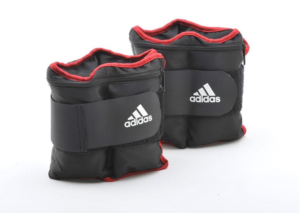 Утяжелитель Adidas на запястья, лодыжки, цвет: черный, 1 кг, 2 шт. ADWT-12229