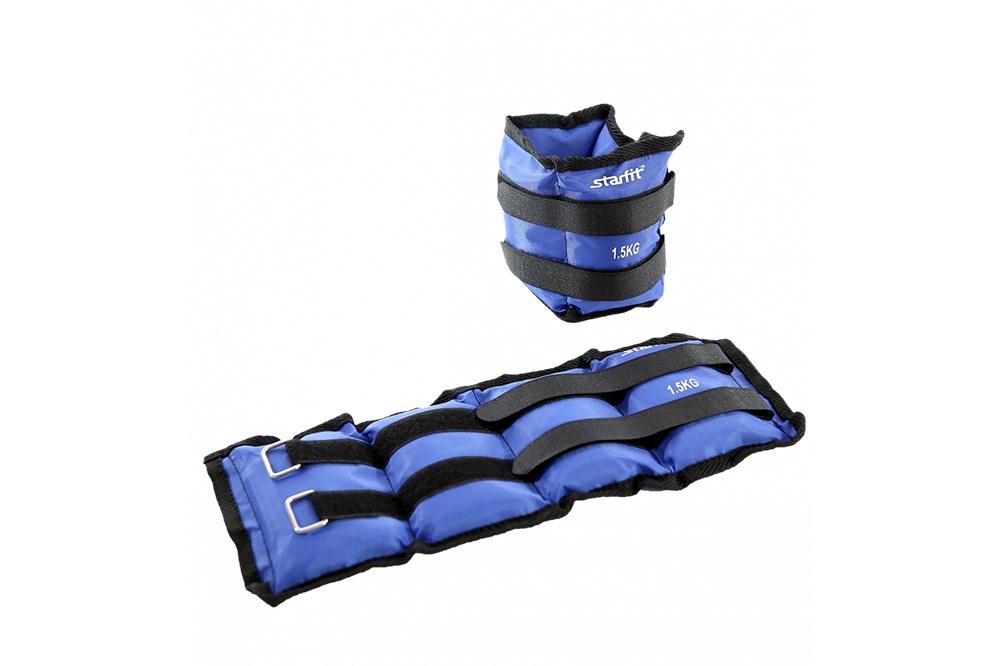 Утяжелители Starfit WT-401 1,5 кг, синийУТ-00010047Утяжелители WT-401 используются в функциональном тренинге как аксессуар для отягощения рук и ног. Возможна фиксация как на руках, так и на ногах, размер регулируется с помощью велкро-липучки. Практичный тканевый материал оксфорд не покрывается затяжками после многократного использования липучек. Наполнитель – железная стружка. В комплекте стильная и практичная сумка с утяжками для удобного хранения, она продлит срок службы изделия. Тренировка с утяжелителями укрепляет сердечно-сосудистую систему, помогает привести мышцы в тонус, развивает выносливость, силу, взрывную скорость. Улучшается общее состояние организма. Дополнительная нагрузка способствует сжиганию большего количества калорий, позволяя добиться лучшего результата тем, кто хочет похудеть. Характеристики: Материал: полиэстер, нейлон, металл Вес одного утяжелителя, кг: 1,5 Наполнитель: железная стружка Цвет: синий Длина, см: 35 Ширина, см: 15 Длина велкро-липучки, см: 47 Ширина велкро-липучки, см: 2,5 Тип упаковки: сумка на затягивающихся шнурках Размер упаковки, см: 15х11х19.5 В комплекте, шт.: 2 Вес брутто: 3 кг.