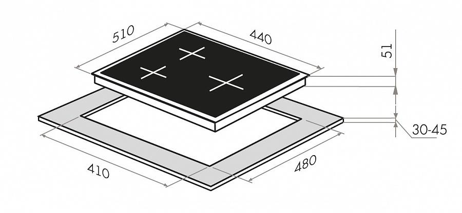 Варочная панель MAUNFELD EGHE. 43. 33CW/G, EGHE. 43. 33CW/G, белый Maunfeld