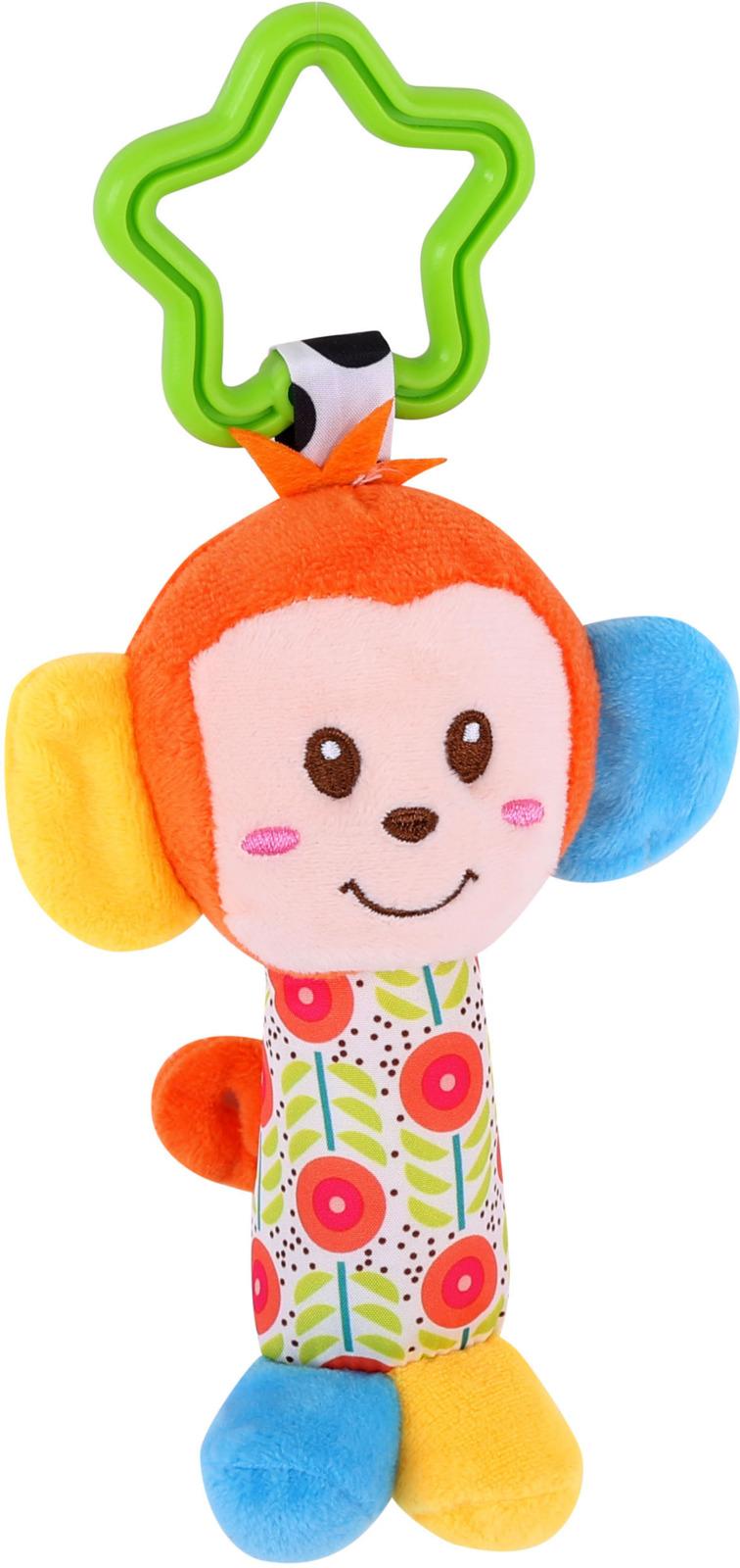 Погремушка мягкая Lorelli Toys Мартышка. 10191180003 развивающая игрушка lorelli toys обними меня мартышка 10191260001