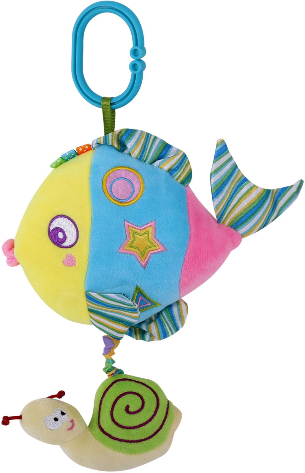 Подвесная музыкальная игрушка Lorelli Toys Разноцветная рыбка. 10191250001 игрушка подвеска lorelli toys 1019112