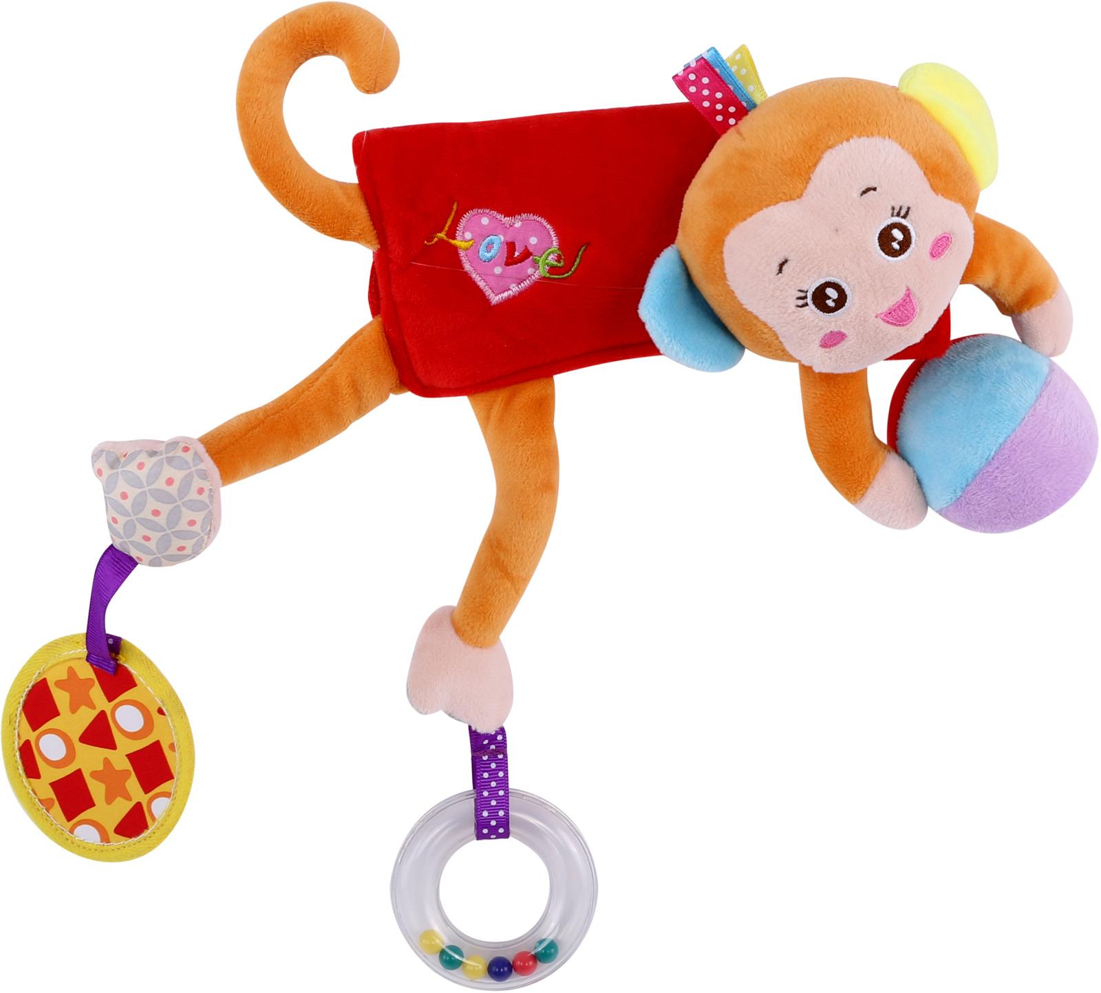 Развивающая игрушка Lorelli Toys Обними меня. Мартышка. 10191260001 развивающая игрушка lorelli toys слоник 1019117