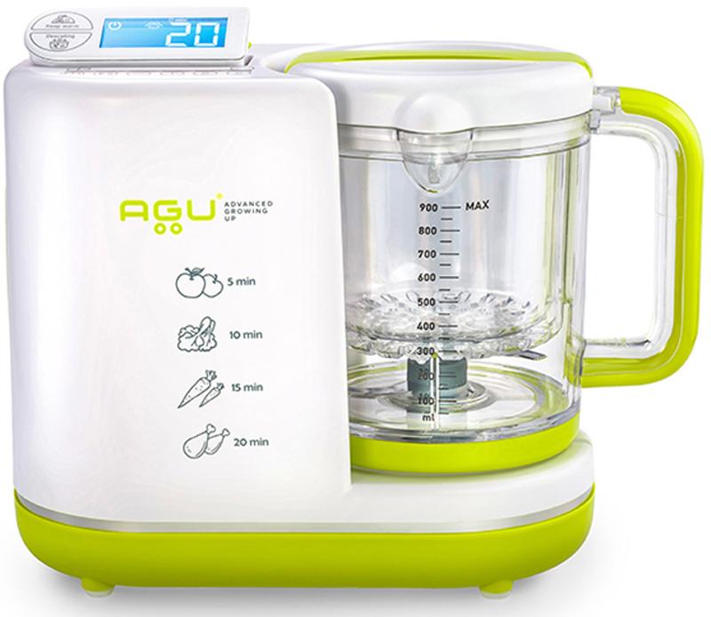 """Процессор для приготовления детских блюд Agu Baby """"5 в 1"""", цвет: белый, зеленый"""