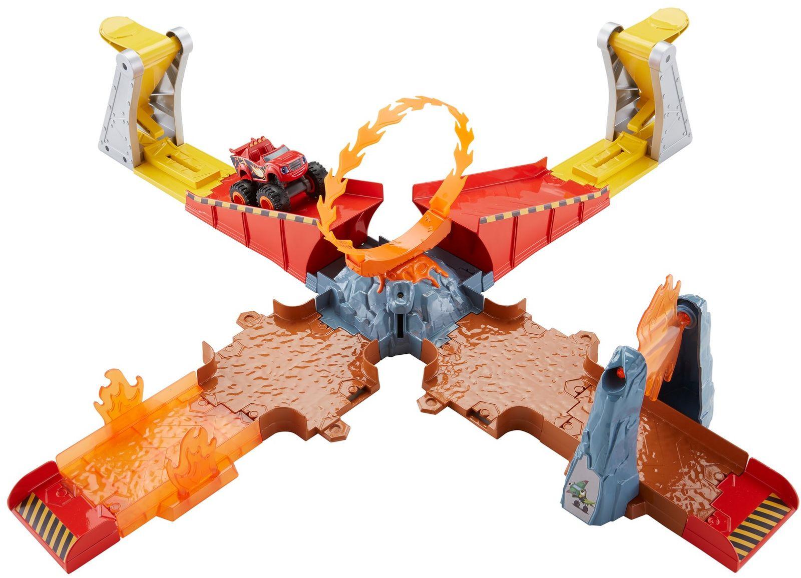 цена на Blaze Игровой набор Вспыш Прыжок через пылающий вулкан