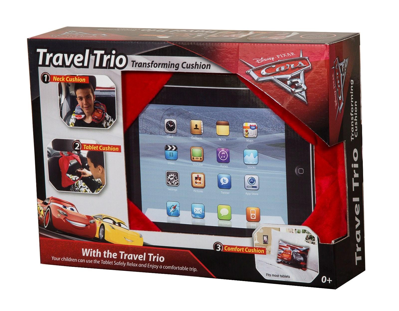 """Подушка Disney """"Трио. Тачки"""", для дома и путешествий, цвет: красный. 16291"""