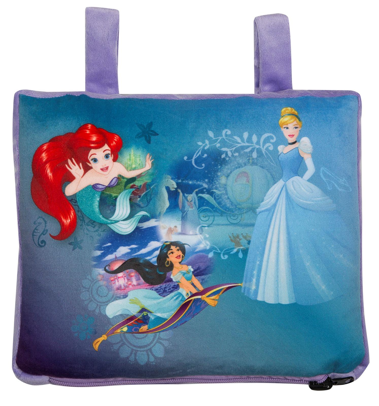 """Подушка Disney """"Трио. Принцессы Дисней"""", для дома и путешествий, цвет: голубой. 16375"""