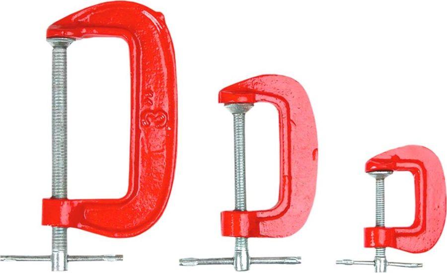 Набор струбцин Top Tools, тип G, 3 шт набор шкатулок для рукоделия bestex 3 шт zw001250