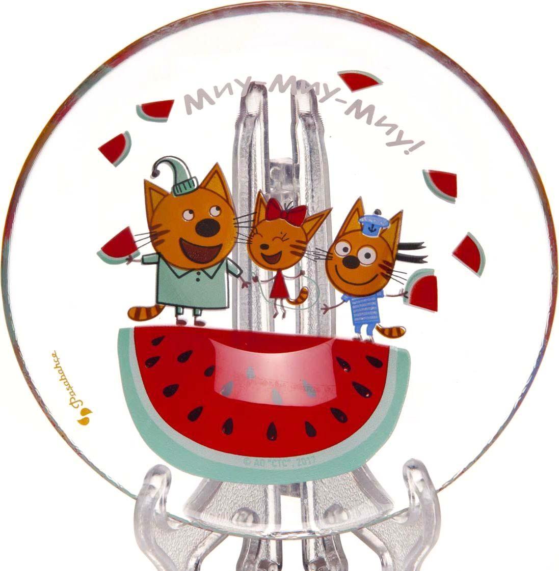 Салатник Pasabahce Три кота. Арбуз, диаметр 14 см салатник pasabahce pleasure 14 см