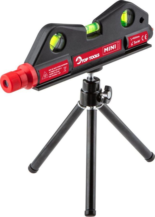 Уровень лазерный Top Tools Мини, дальность 10 м удлинитель светозар 10м на катушке sv 55081 10