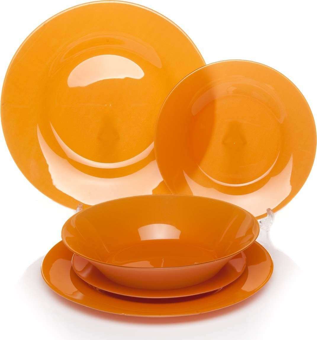 Набор тарелок Pasabahce Уоркшоп Оранж Виллаж, 18 предметов тарелки