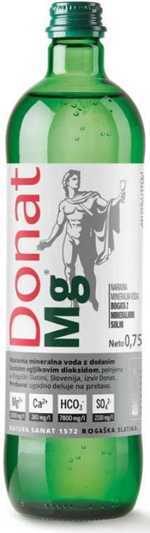 Вода минеральная природная питьевая лечебная Donat Mg, 0,75 л