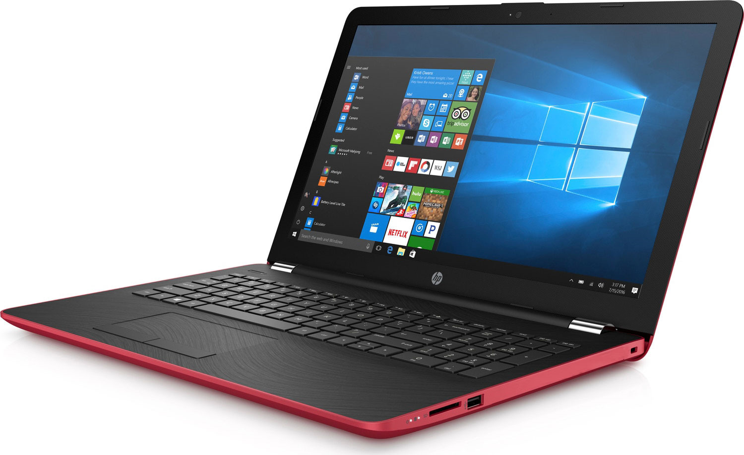 15.6 Ноутбук HP 15-bs593ur 2PV94EA, красный ноутбук hp 15 bs038ur pentium n3710 1600mhz 4gb 500gb 15 6 hd int intel hd no odd win10