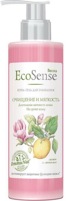Крем-гель для умывания Весна Ecosenseя, очищение и мягкость, 200 мл нежный гель для умывания