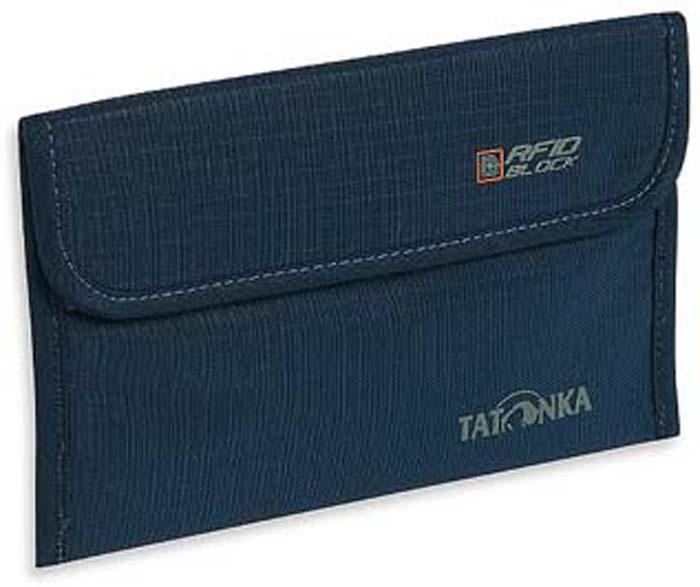 Кошелек-чехол для паспорта Tatonka Travel Folder Rfid, цвет: синий кошелек поясной tatonka travel waistbelt