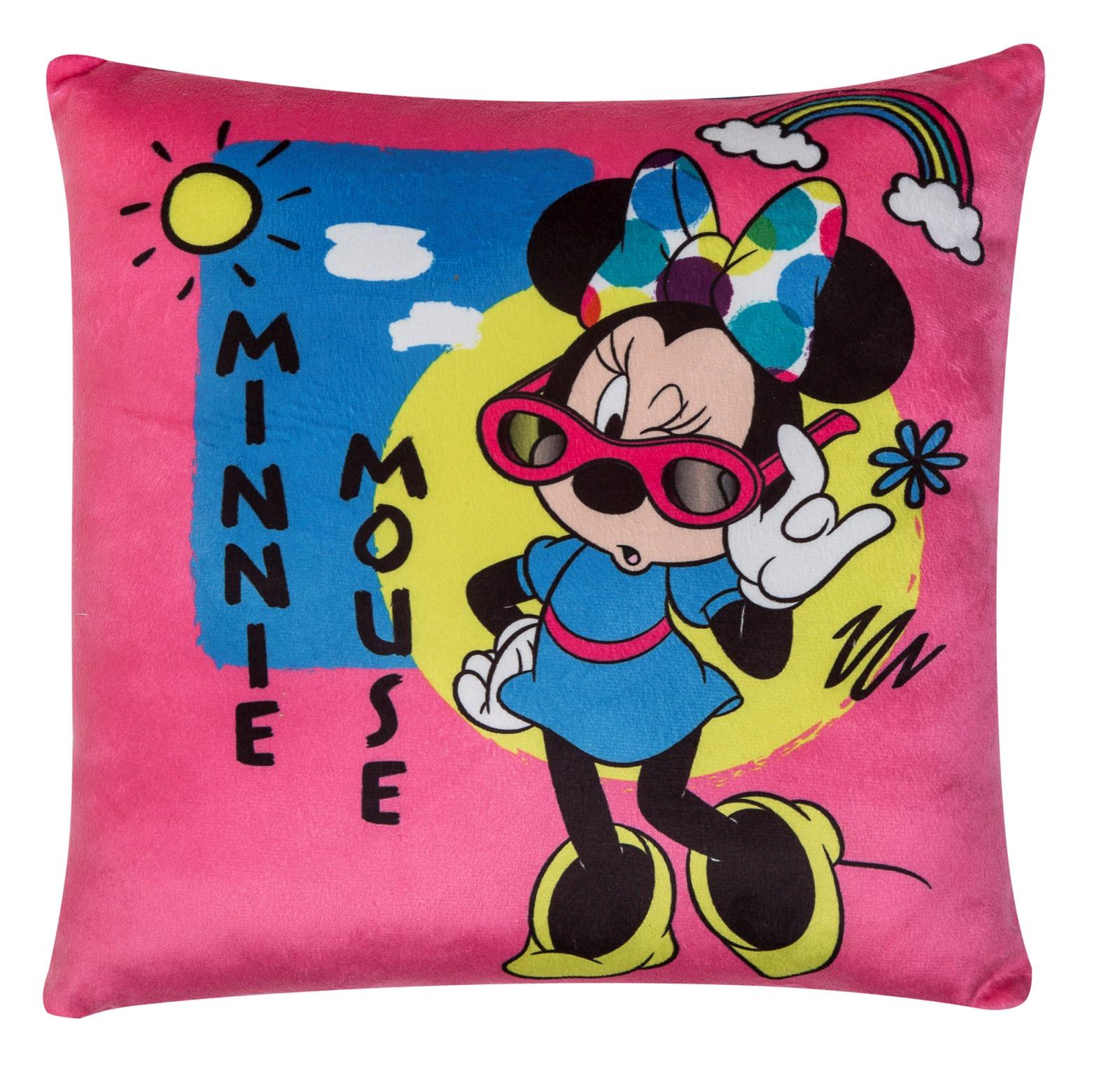 Подушка-перевертыш Disney Минни Маус Дисней, цвет: розовый, мультиколор, 36 х 36 см. 16403 цена