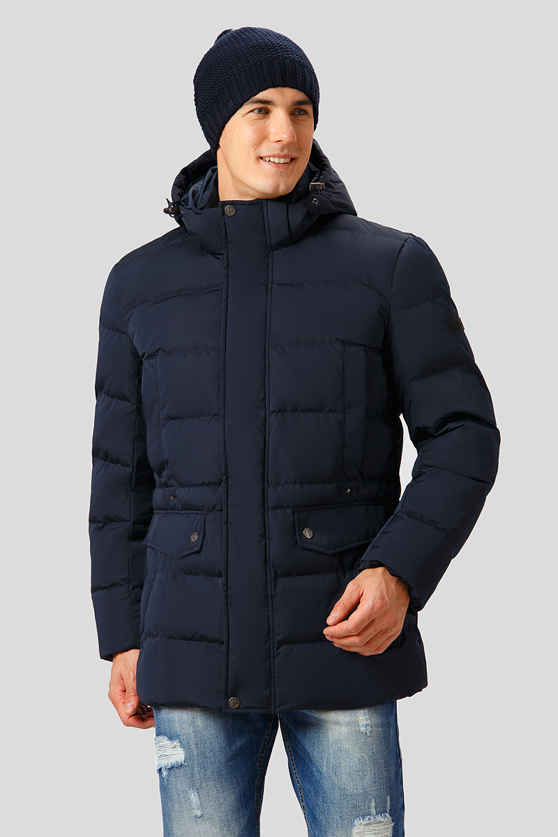Куртка мужская Finn Flare, цвет: темно-синий. W18-21000. Размер 3XL (56)147823200