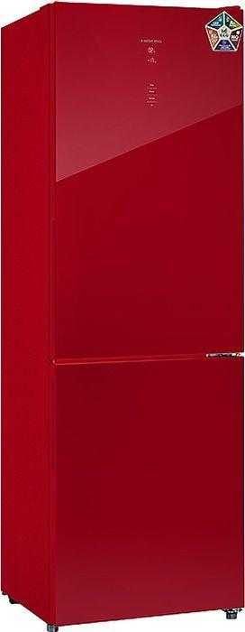 Холодильник Hiberg RFC-311DX NFGR, красный