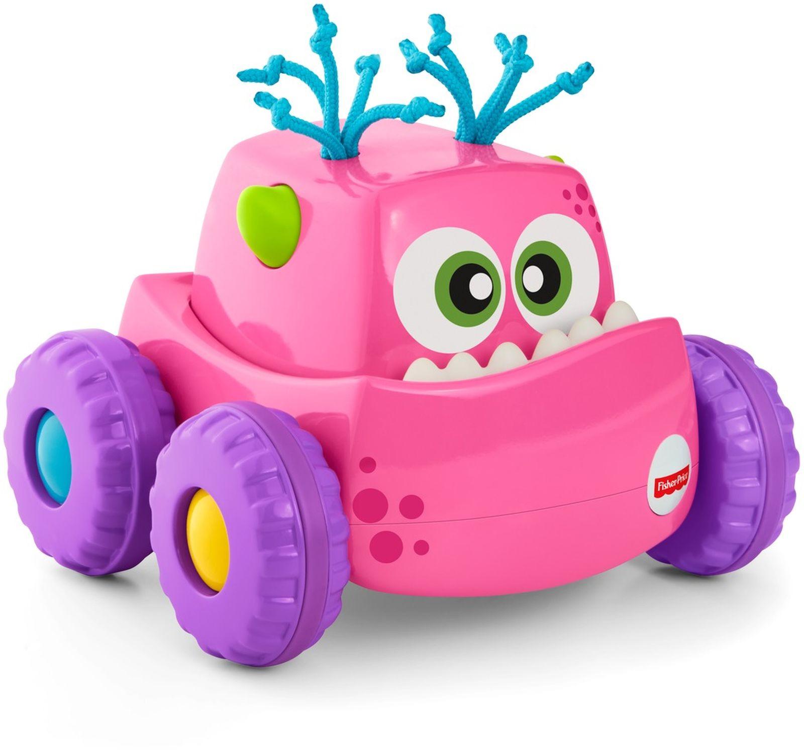 Fisher-Price Развивающая игрушка Инерционный монстрик цвет розовый