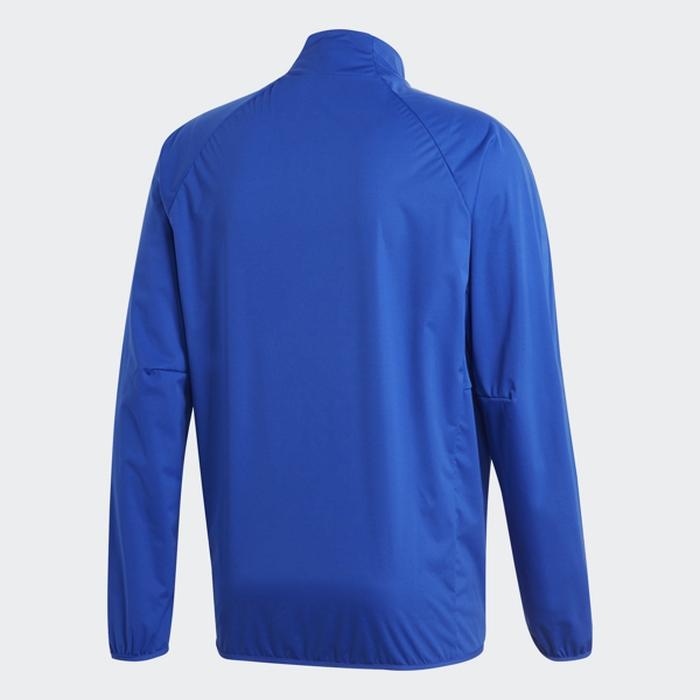 Купить Ветровка мужская Adidas Con18 Rain Top, цвет: голубой. BQ6544. Размер XL (56/58) на XWAP.SU