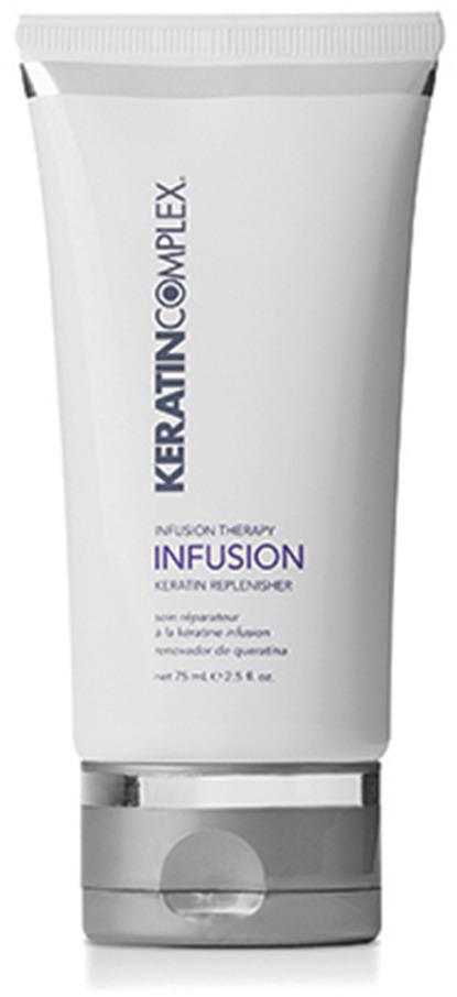 Восполнитель кератина для волос Keratin Complex, 74 млKCIT2.5INFTBУсовершенствованная формула с помощью кератина, протеинов сои и пшеницы, экстрактов эхинацеи и розмарина разглаживает поверхность волос, сохраняет влагу и укрепляет их структуру. Придает волосам шелковистость и блеск. Защищает от термических и механических повреждений в процессе укладки феном. Облегчает и ускоряет создание укладки. Сохраняет результат процедур Keratin Complex.