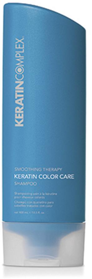 Шампунь Keratin Complex, с кератином, для окрашенных волос, 400 млKCST13.5CCPOO3Шампунь с кератином, протеинами сои и пшеницы мягко очищает, защищая цвет окрашенных волос. Разглаживает волосы, сохраняет результат от процедур Keratin Complex. Придает волосам упругость, гладкость и блеск. Не содержит сульфаты и хлорид натрия. Подходит для всех типов волос и ежедневного применения.