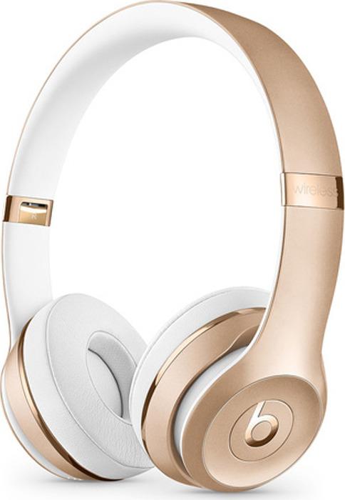 лучшая цена Беспроводные наушники Beats Solo3 Wireless, золотой