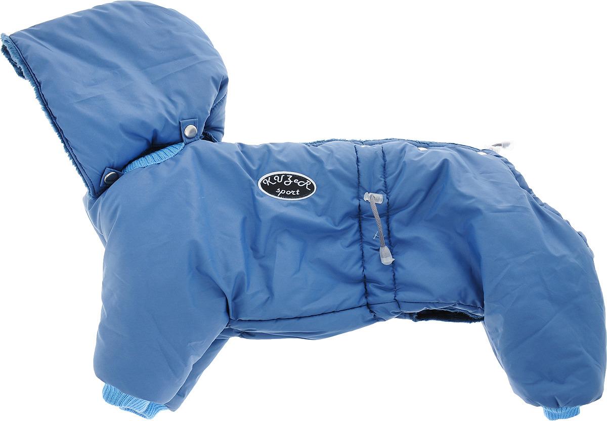 """Одежда для собак Kuzer-Moda """"Полярник"""", комбинезон зимний, KZ001808 унисекс, индиго, размер L"""