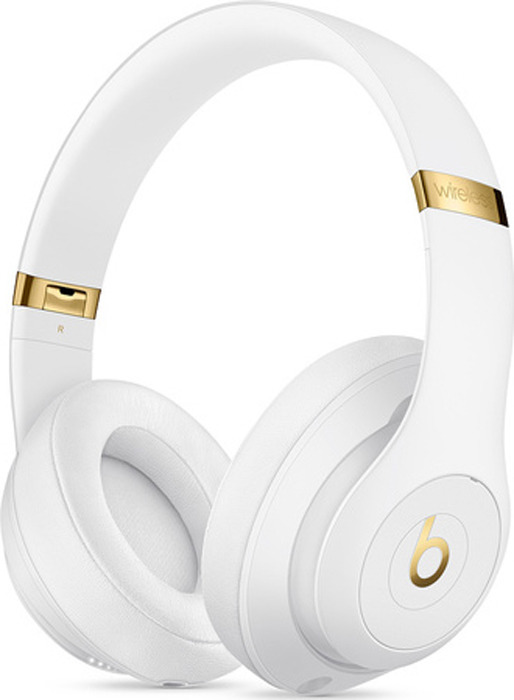 лучшая цена Беспроводные наушники Beats Studio3 Wireless, белый