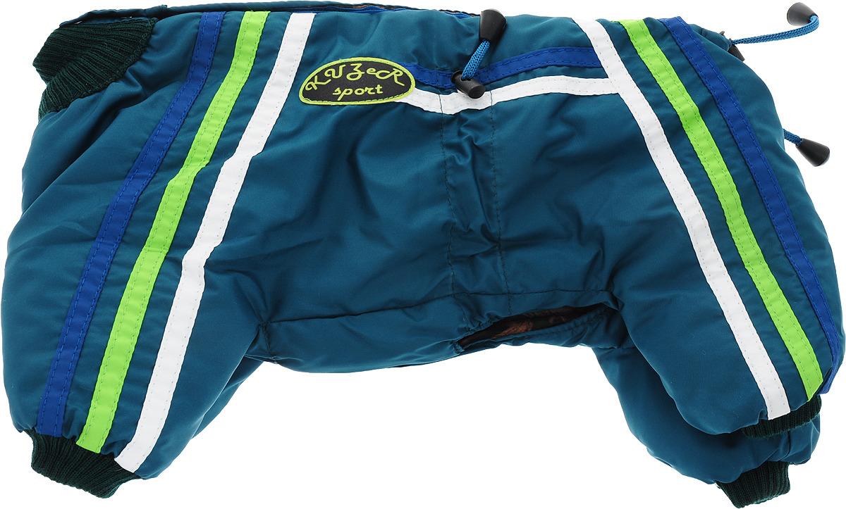 "Одежда для собак Kuzer-Moda ""Спринт"", комбинезон утепленный, унисекс, KZ001451, темно-синий, размер S"