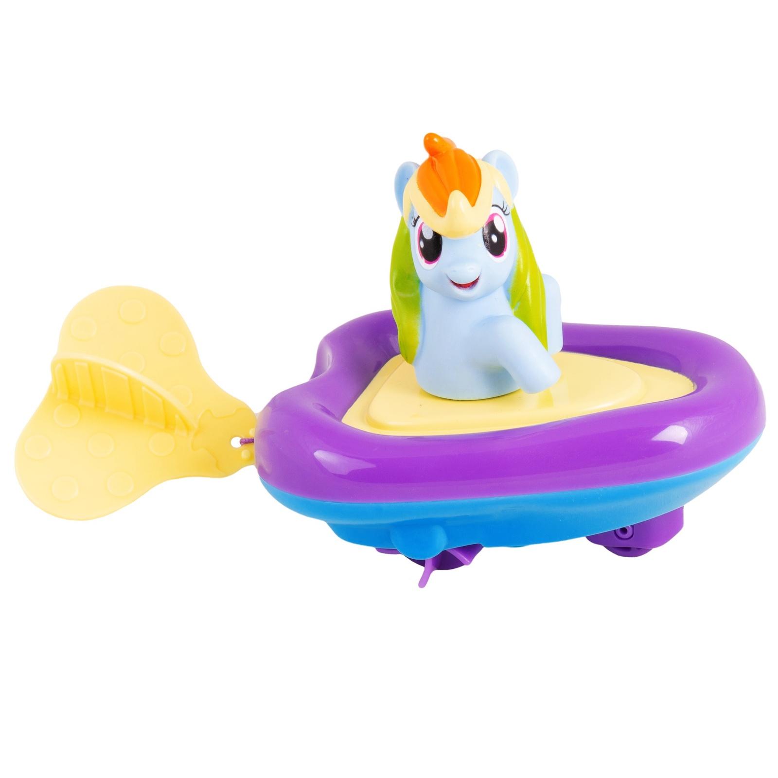 """Игрушка для ванной Мой маленький пони Игровой набор для ванной """"Рейнбоу Дэш в заводной лодочке"""", 35600 голубой, фиолетовый, желтый"""
