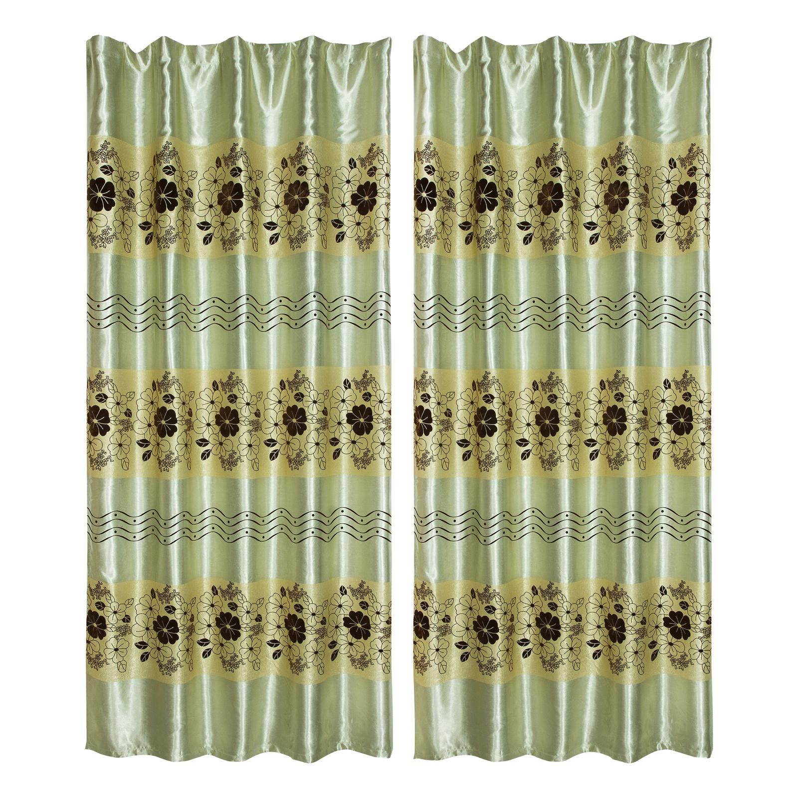 Комплект штор Zlata Korunka Зеленая волна, зеленый цена