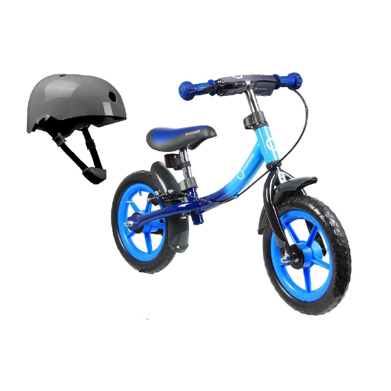 Беговел Lionelo LO-DAN PLUS Blue со шлемом безопасности